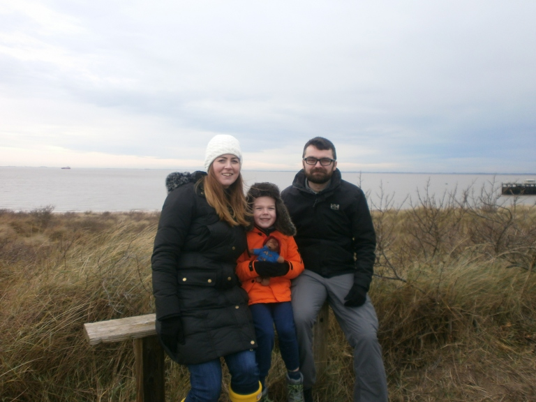Natalie, Kasper and James at Spurn Point