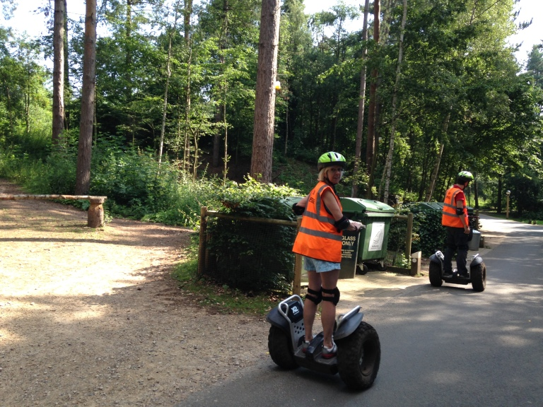 Jennie on a Segway at Center Parcs