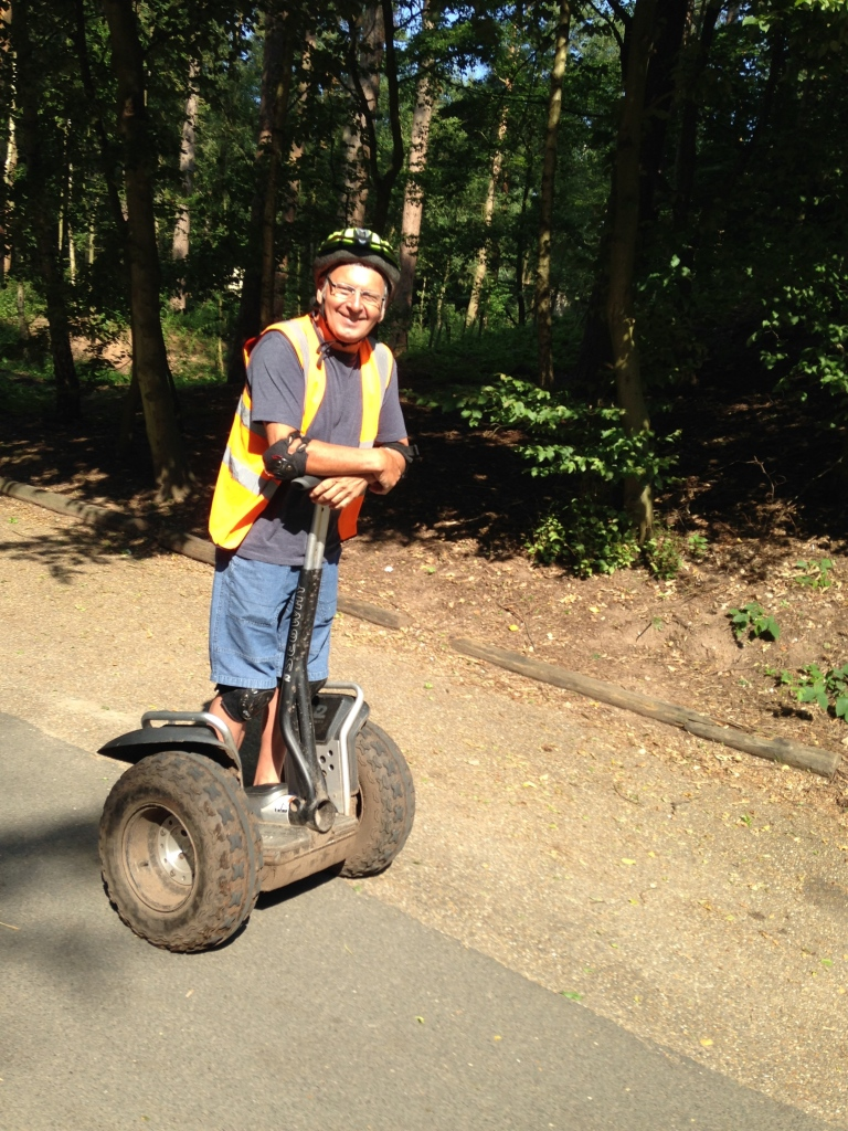 Pat on a Segway at Center Parcs