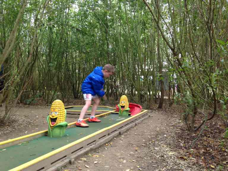 mini golf among activities at York Maze